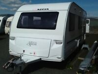 2009 adria altea 6 berth fixed triple bunk beds with fitted mover