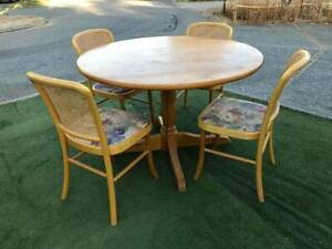 RETRO Wooden dining round table / CHAIRS not available