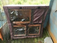 2 storey guinea pig/rabbit hutch (plus cover, outside run & hide house)