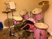 Pink Jasmin Drum set