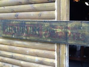 ANTIQUE MILLBANK ADVERTISING SIGN