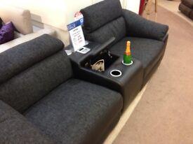 Reclining lazy boy sofa