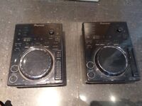 2X CDJ 350s in good condition with Decksave covers, cabling and boxes with padding