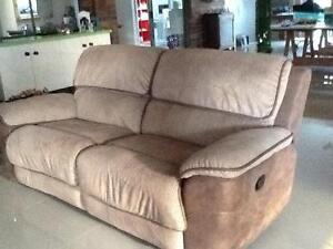 Bourbon USA style 2 seater and 3 chairs all recline Jacobs Well Gold Coast North Preview