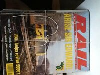 "Full years of ""Rail magazine buyer to collect £5 per year 1981 to 2002"
