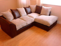 **FREE DELIVERY 4 UK**DYLAN CORNER BROWN & BEIGE SOFA **10% OFF** 4 LONDON & SURROUNDING POSTCODES