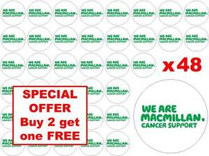 48 x Macmillan Cancer Support Charity Fairy Cup Cake Toppers Edible Rice Paper
