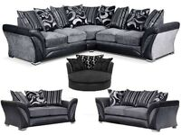 LAST DAY OF SALE BRAND NEW DFS CORNER OR 3+2 /CUDDLE CHAIRS/MATCHING RUGS FREE POUFFE