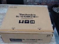 Technics sl1210 boxed with lid cart & mat