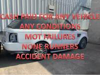QUICK MONEY PAID FOR UNWANTED SCRAP CARS VEHICLE NONE RUNNERS MOT FAILURES WOLVERHAMPTON