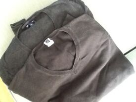 Two mens large gap jumpers