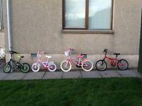 4 Bikes, 2 Girls and 2 Boys