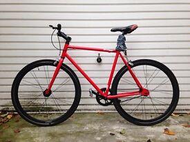 Single speed flip flop rear wheel Dunlop Bicycle.