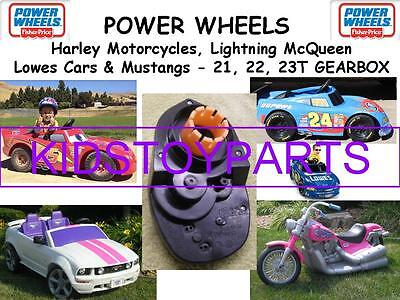 1X 21T 22T 23T POWER WHEELS 7R LIGHTNING MCQUEEN  MUSTANG HARLEY GEARBOX UPGRADE