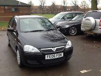 Vauxhall corsa design twin port 5 door .2006 black 27500 miles