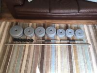 York Weights Set - 32.5kg with Bar and Dumbbells
