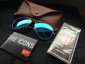 Ray Ban Aviator polarized sun glasses