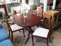 Oval dining table 4 chairs Copley Mill LOW COST MOVES 2nd Hand Furniture STALYBRIDGE SK15 3DN
