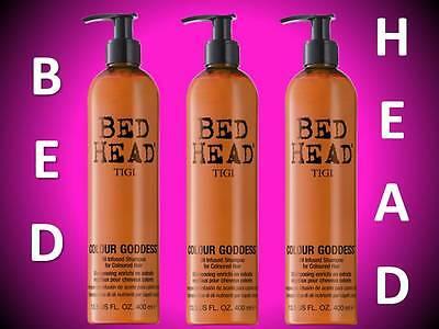 3 PACK!! TIGI BED HEAD COLOUR GODDESS OIL INFUSED BRUNETTE COLOR SHAMPOO 13.5 OZ