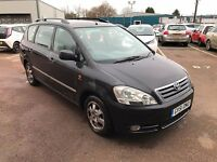TOYOTA AVENSIS VERSO 2.0 VVT-i GLS 5dr **SERVICE HISTORY**REAR 7 SEATER**VERY GOOD EXAMPLE**