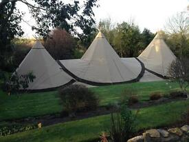 GIANT TIPI TENT ERECTORS REQUIRED - PART TIME