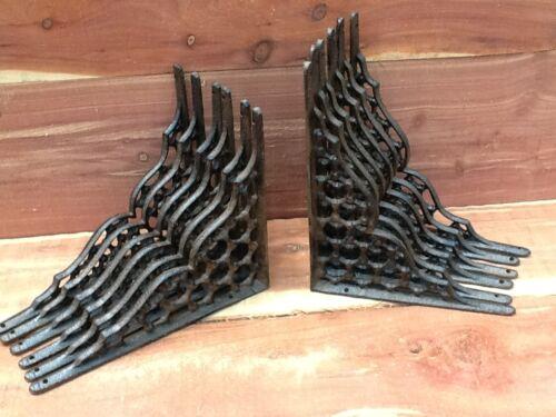 12 Webb Cast Iron Wall Shelf Brackets  Antique Style Corbell Rustic FREE SHIP
