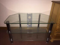Glass & Silve TV Stand