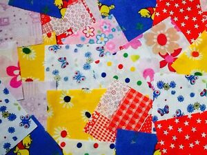 25 x 4 fabric remnant bundle patchwork squares children 39 s for Childrens fabric bundles