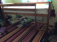 Cabin Bed, Solid Pine, Mid Height, great condition, clean from Branches Warrington, cost £340 new
