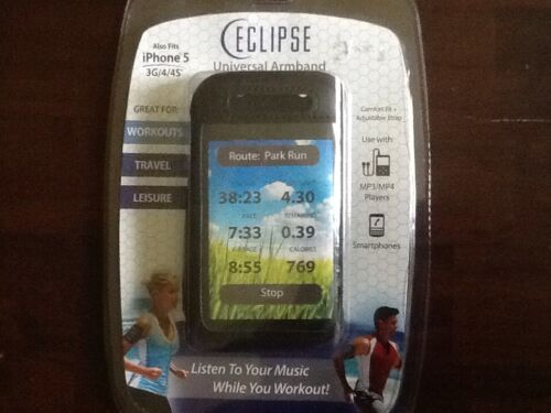 Eclipse Universal Armband Fits iPhone 5/3G/4/4S, Smartphones