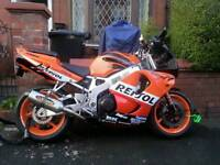 Honda cbr900rr-t, best at 928cc-200mph, quick project different panels tho