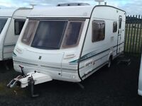 2002 abbey vogue GTS 416/4 berth end changing room with awning