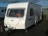 2008 Bailey ranger 460/4 berth fixed bed with fitted mover