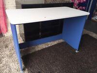 White and Blue Children's Orleans Desk