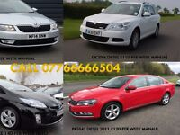 PCO CARS HIRE RENT-VW PASSAT 2011 UBER READY £120 PER WEEK