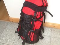 Large rucksacks/backpacks 50litres upto 75litres-several available-lightly used from £35 to £45each