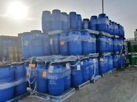 PLASTIC BARRELS 290 LTRS FOR SALE £25.00 CALL ON 0,7,549912028 TO ORDER OR ARRANGE COLLECTION
