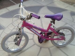 Bright pink magna girl talk bike