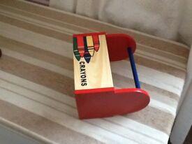 A child's crayon box