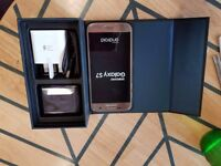 samsung s7 on o2 excellent condition with box and no marks at all on it