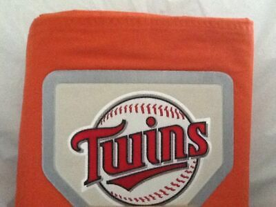 Mlb Baseball Bettwäsche (Pottery Barn Teen 100% Cotton MLB Baseball Minnesota Twins Full/Queen Duvet)