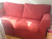 Double sofa bed with loose covers