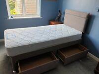 Finest Quality 🌹 Single Size Divan Bed & Mattress 🌹 Optional Storage