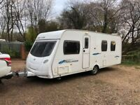 2009 Lunar Freelander 585 SI 4 Berth caravan FIXED ISLAND BED Awning VGC, Bargain !