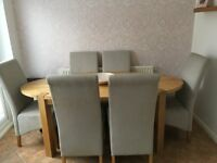 Oval Oak Dining Room Table only (no chairs)