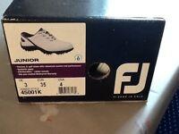 Junior footJoy golf new boxed shoes waterproof UK 3