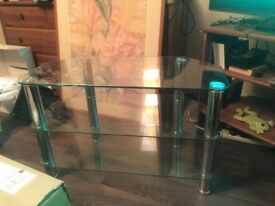 New glass and chrome TV , Audio stand