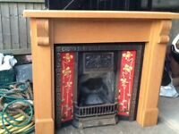 Solid oak fire surround