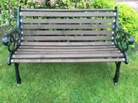 Traditional Garden Bench With Cast Iron Ends