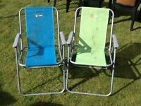 2 x small deck chairs.